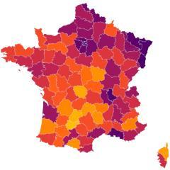 Carte interactive de la covid-19 par départements en France   Psychomédia