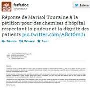 La ministre réagit à la pétition sur les chemises d'hôpital Image7521